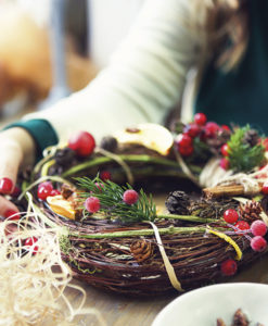 Ghirlanda di Natale Corso creativo adulti Ciavattini